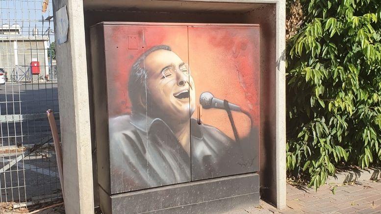 בועז שרעבי ברח' השחם - האם ציור הרחוב יישאר?